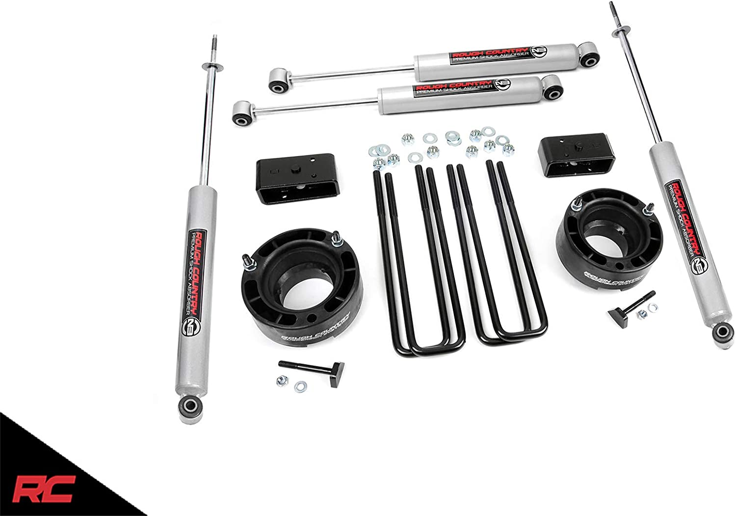 Rough Country 2.5 Leveling Kit 1994-2001 RAM Truck 1500 Suspension System 362.20 fits