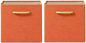 Home Decorators Collection Collapsible Orange Bins with Handles (Set of 2)