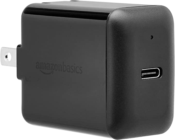AmazonBasics 15W USB-C charger with one connector
