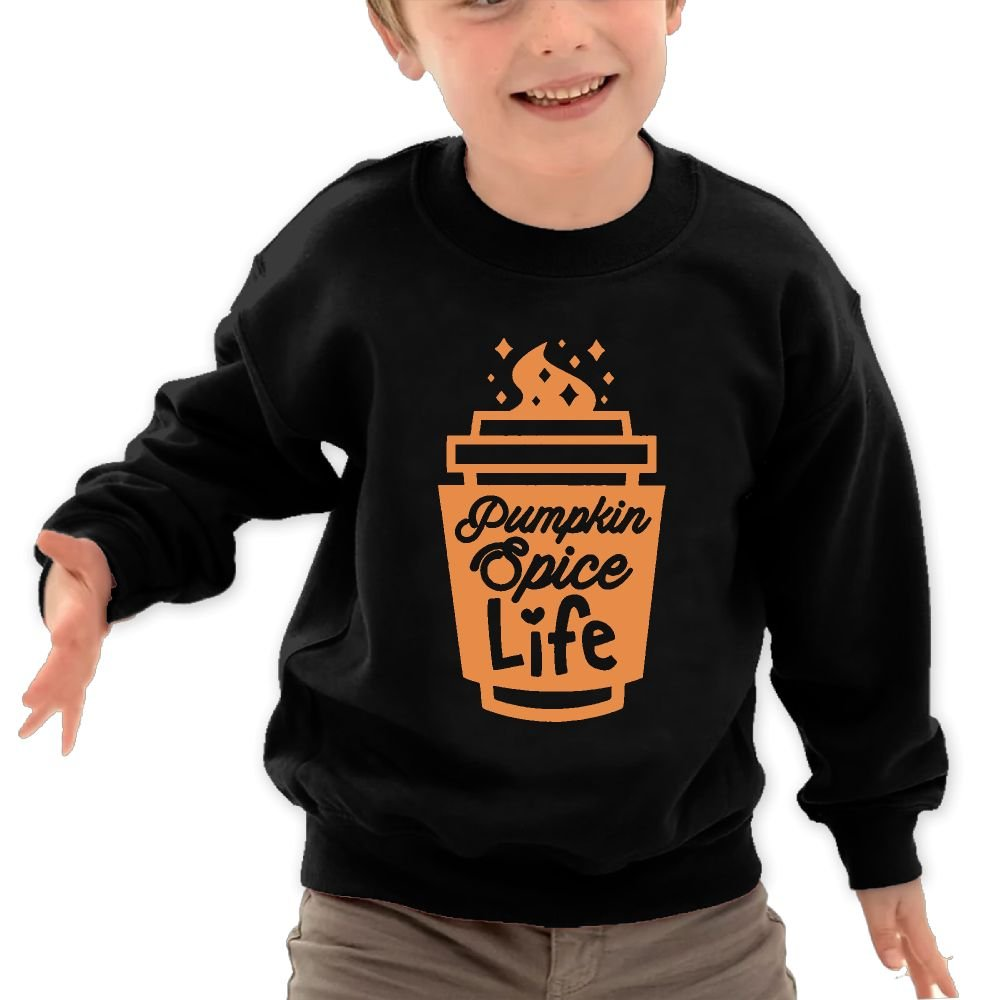 Pumpkin Spice Life Unisex Kids Cotton Fleeces Athletic Long-Sleeves Dress