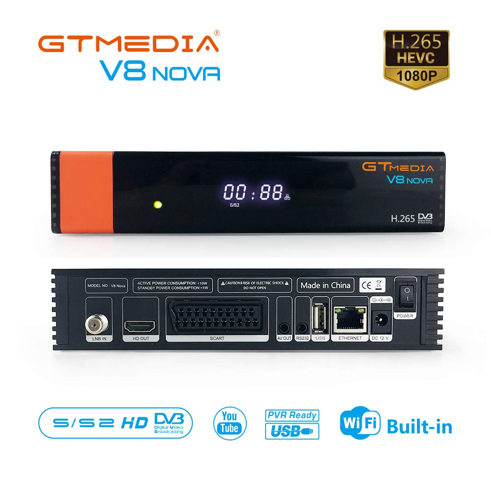 GTMEDIA V8 NOVA DVB-S2 TV Satellite Receiver HD 1080P
