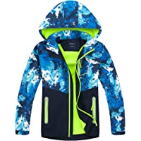 Welity Girl's Full Zip Warm Fleece Lined Waterproof Hoodie Jacket Coat