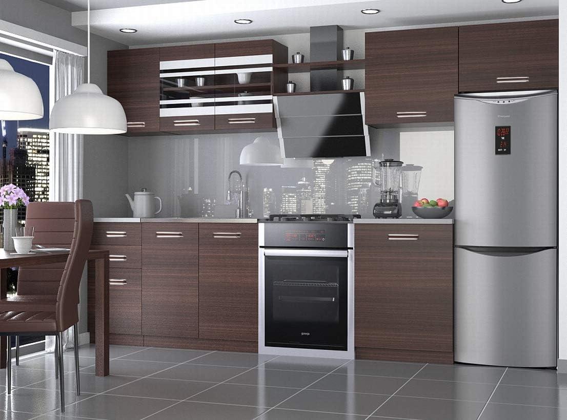 Muebles Cocina Completa, 300 cms, Modulos de cocinas ref-13 (Castaño): Amazon.es: Hogar