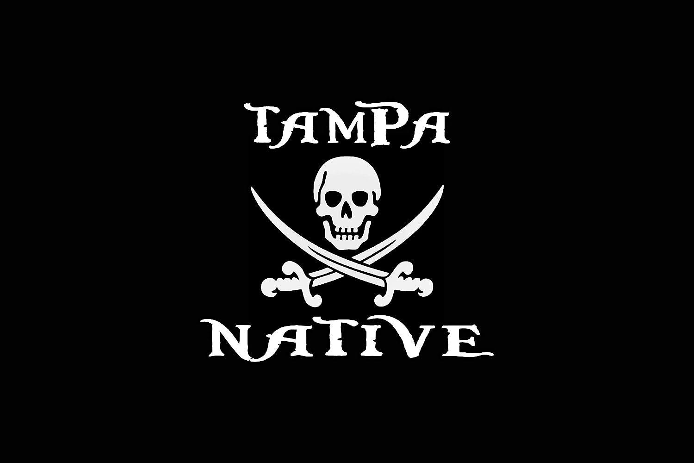 Tampa Florida Native Decal White Choose Size