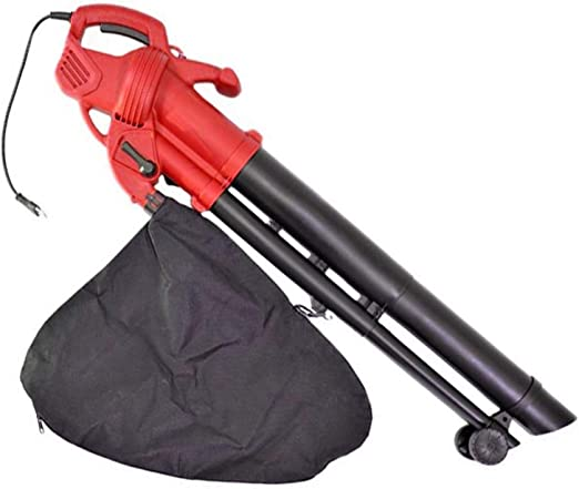 Aspirador eléctrico de hojas con ruedas y saco para la limpieza del jardín, 2400 W: Amazon.es: Jardín