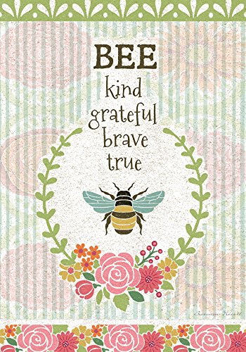 Cheap Lang – Large Garden Flag -Bee Kind, Exclusive Artwork by Suzanne Nicoll – All-Weather, Fade-Resistant Polyester – 28″ w x 40″ h
