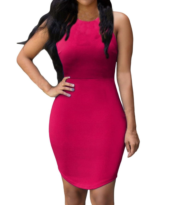 Huusa Womens Sexy Stylish Hollow-out Party Mini Dress Clubwear