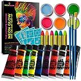 40 Piece Glow in The Dark Face & Body Paint Kit - UV