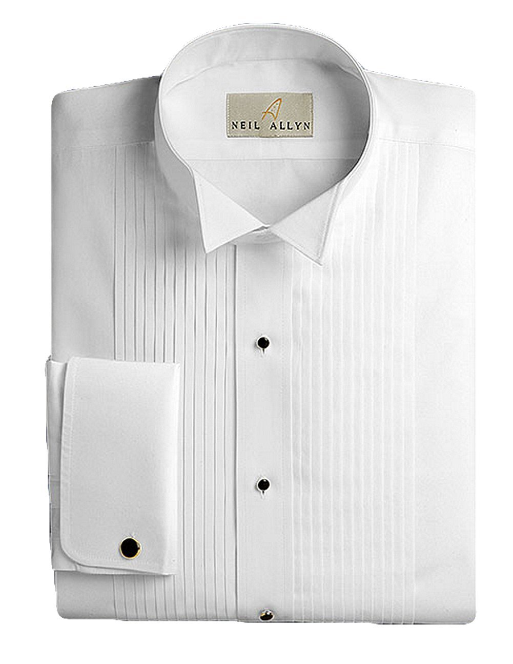 Neil Allyn Men's 100% Cotton Tuxedo Shirt, Slim Fit, 18 (36/37) by Neil Allyn