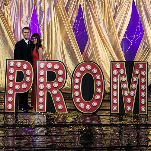 3 ft. 10 in. Hollywood Movie Star Prom Letter Set Standup Photo Booth Prop Background Backdrop Party Decoration Decor Scene Setter Cardboard Cutout