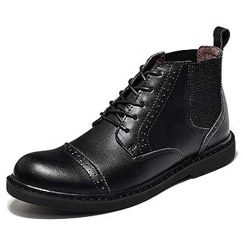 Xiazhi-shoes , Botines de los Hombres, Atan para Arriba los Botines de Moda Casual (Color : Negro, tamaño : 41 EU): Amazon.es: Hogar