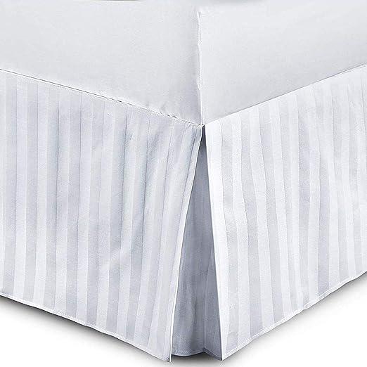 Faldones de cama de calidad hotelera, satinados, T230, 100 ...