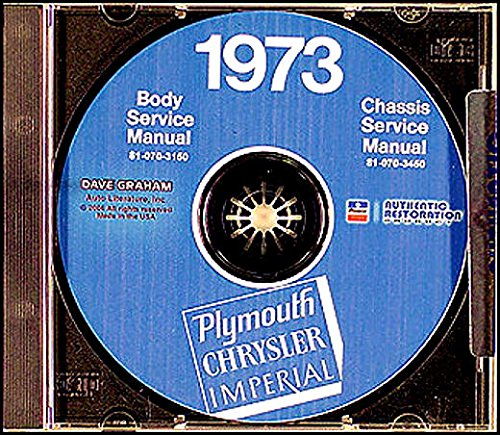 (A MUST FOR OWNERS, MECHANICS & RESTORERS - THE 1973 PLYMOUTH REPAIR SHOP & SERVICE MANUAL & BODY MANUAL CD INCLUDES: Suburban Custom, Sport, Fury, Satellite, 'Cuda (Barracuda), Roadrunner, Duster, 340, Valiant Scamp, Special)