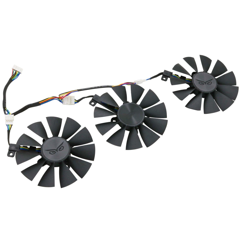 3 Pcs//lot PWM Fans cooler,For ASUS STRIX GTX980Ti//R9 390//390X Graphics Card Cooling FAN DC 12V 0.5A T129215SU