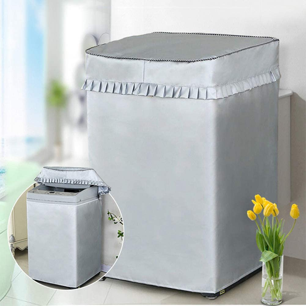 Washing Machine Cover for Top Load Washing Machine Protector Washer Dryer Covers Fit for Automatic Compact Washer Top Loading Balcony Lavadora Waterproof Dustproof Sunproof Oxford W22D22H36in M