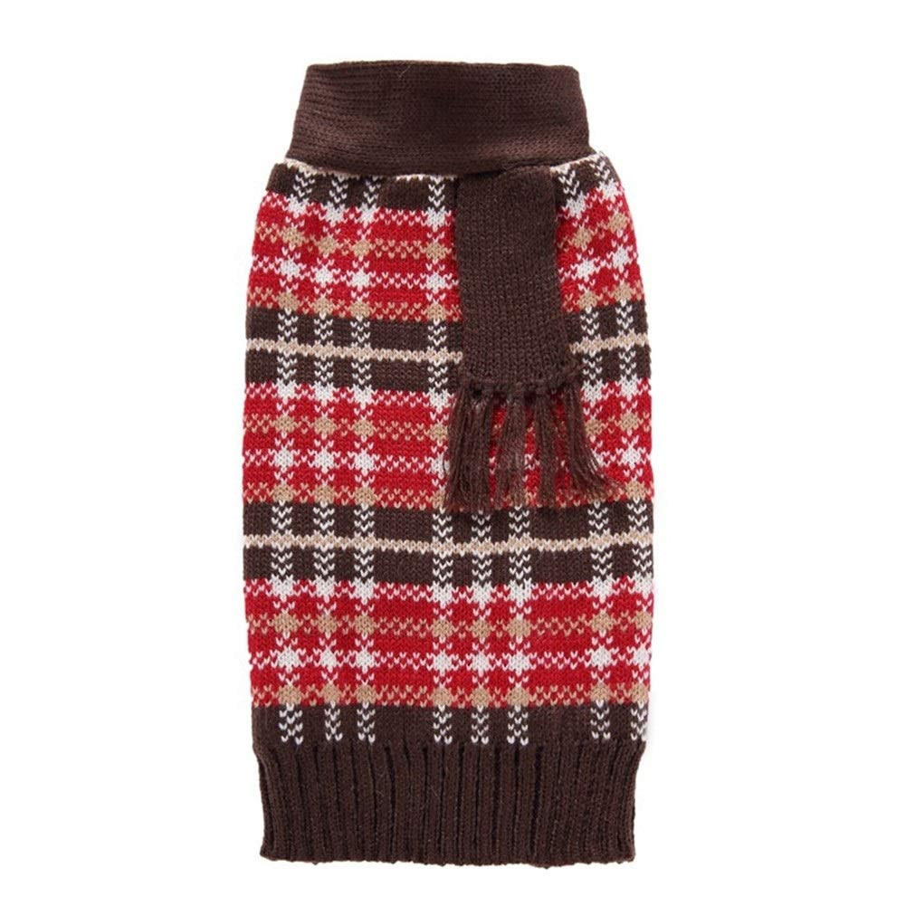 LovelyPet Pet Clothes Pet Sweater Fake Two-Piece Bow Dog Sweater Pet Big Dog Clothes Autumn and Winter (Color : A, Size : S)
