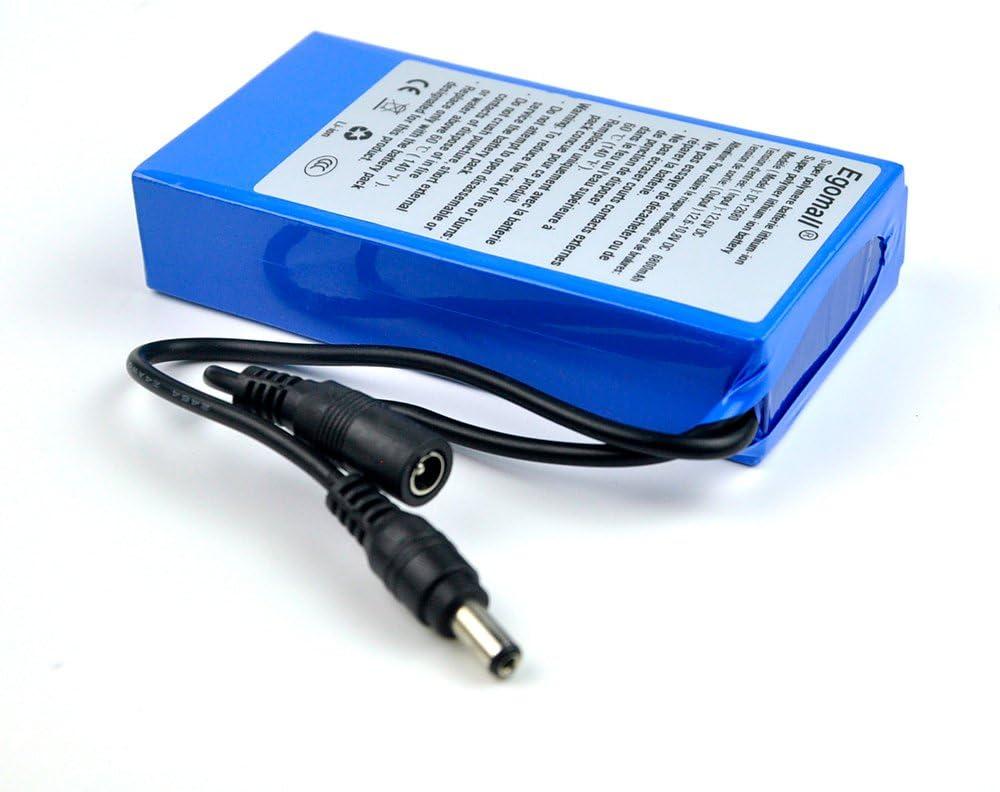Batería recargable de Ion Litio de 6800mah DC 12 V Super recargable  especial para enchufar a cámaras de videovigilancia, DVR GPS, Mini altavoces y  productos digitales y o juguetes