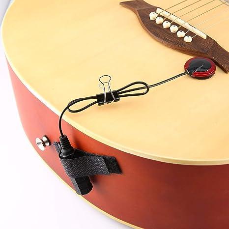 Piezo Contacto Micrófono Pickups para Guitarra, Violín, Banjo, OUD ...