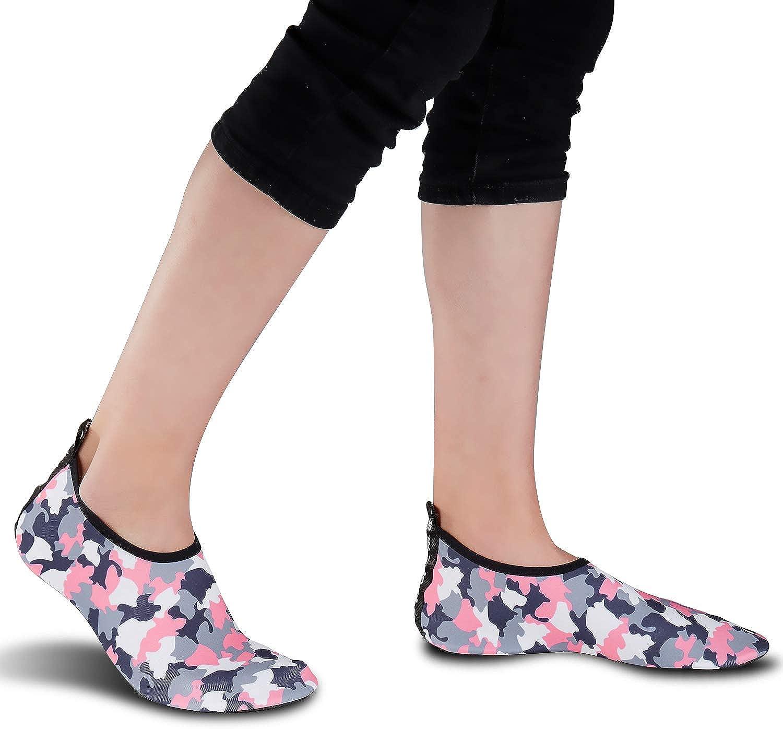 WOWEI Chaussures deau Hommes Femmes S/échage Rapide Pieds Nus Chaussettes de Sport Aquatique pour Plage Nager Plong/ée Surf Yoga 28-45 EU