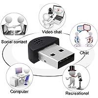 LipiWorld® USB 2.0 Mini Microphone Portable Studio Speech Mic Audio Adapter for Laptop PC Skype(USB Mic Mini)