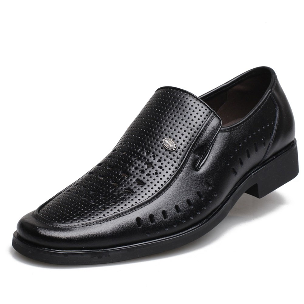 GLSHI Men Leather Loafer 2018 Spring Summer New Comfortable Driving Shoes Fashion Casual Flat Shoes