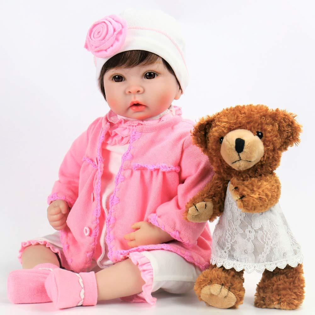 Dolls Reborn Baby Doll Reborn Girl Baby Doll Real Fashion Doll Accompanying Toy Bebe Reborn Soft Body Happy Face Angel For Girls