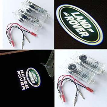 2//4X CREE LED Logo Door Projector Puddle Shadow Laser Light For Land Range Rover