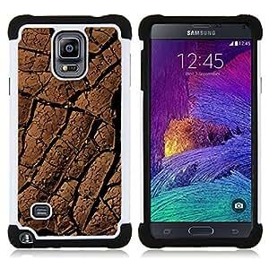For Samsung Galaxy Note 4 SM-N910 N910 - desert lines drought dirt soil pattern Dual Layer caso de Shell HUELGA Impacto pata de cabra con im??genes gr??ficas Steam - Funny Shop -