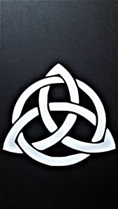 "Chase Grace Studio Celtic Knot Infinity Eternity Vinyl Decal Sticker|White|Cars Trucks Vans SUV Laptops Wall Art|5"" X 5""|CGS473"