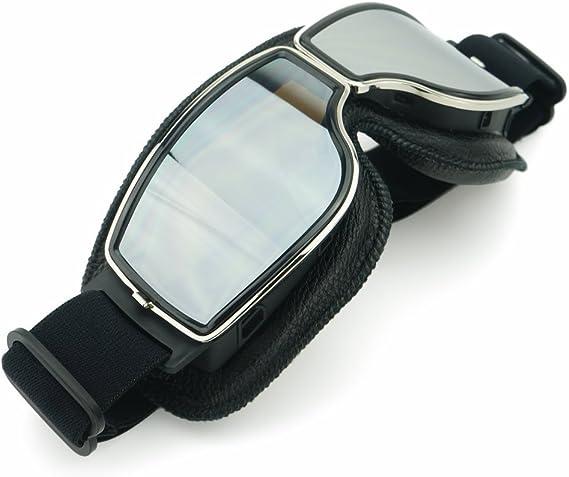 Heinmo Motorrad Roller Reitbrille Motocross Aviator Ski Retro Helmbrille Motorradbrillen Sport Freizeit