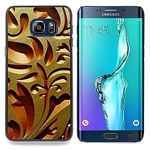"""Qstar Arte & diseño plástico duro Fundas Cover Cubre Hard Case Cover para Samsung Galaxy S6 Edge Plus / S6 Edge+ G928 (Diseño de Interiores de talla de madera Arquitectura Arte"""")"""