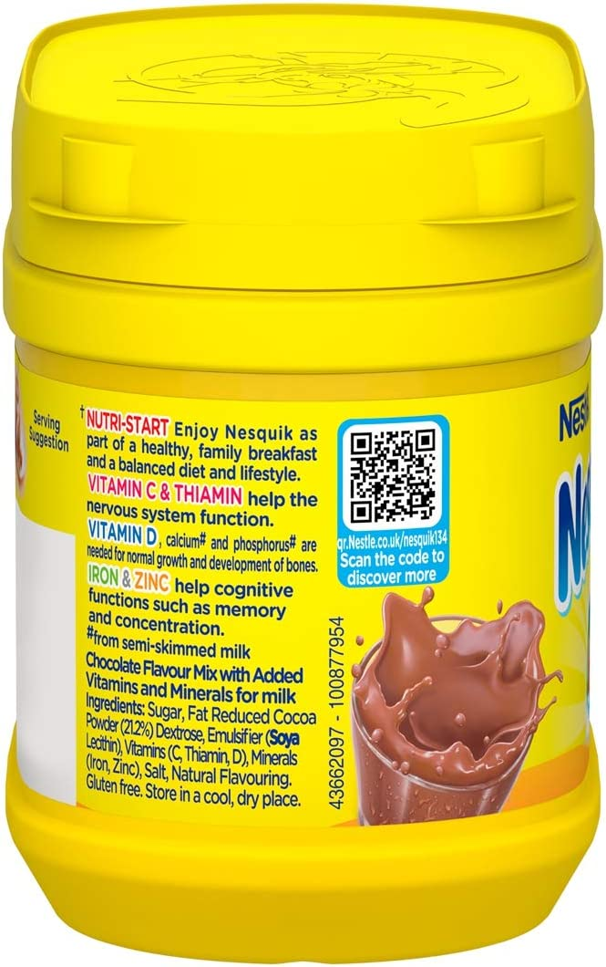 Nesquik Chocolate Flavour Milkshake Powder 300 g Pack of 5