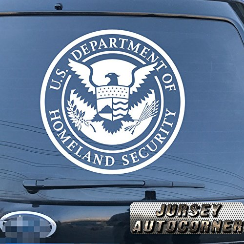 Homeland Security Seal - Jursey Auto U.S. Department of Homeland Security Seal DHS Decal Sticker Car Vinyl pick size color die cut no background (white, 16'' (40.6cm))