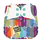 bumGenius Elemental 3.0 All-in-One One-Size Cloth Diaper with Organic Cotton (Love)