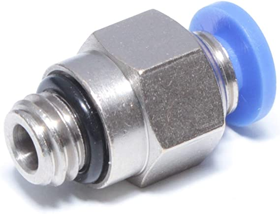 1//16 NPT Male Elbow Fitting Connector 90/° One Touch Thread MTL6-N00 10 MettleAir Push in to Connect 6 mm OD