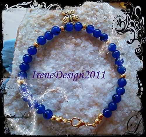 Blue Jade & Butterfly Bracelet