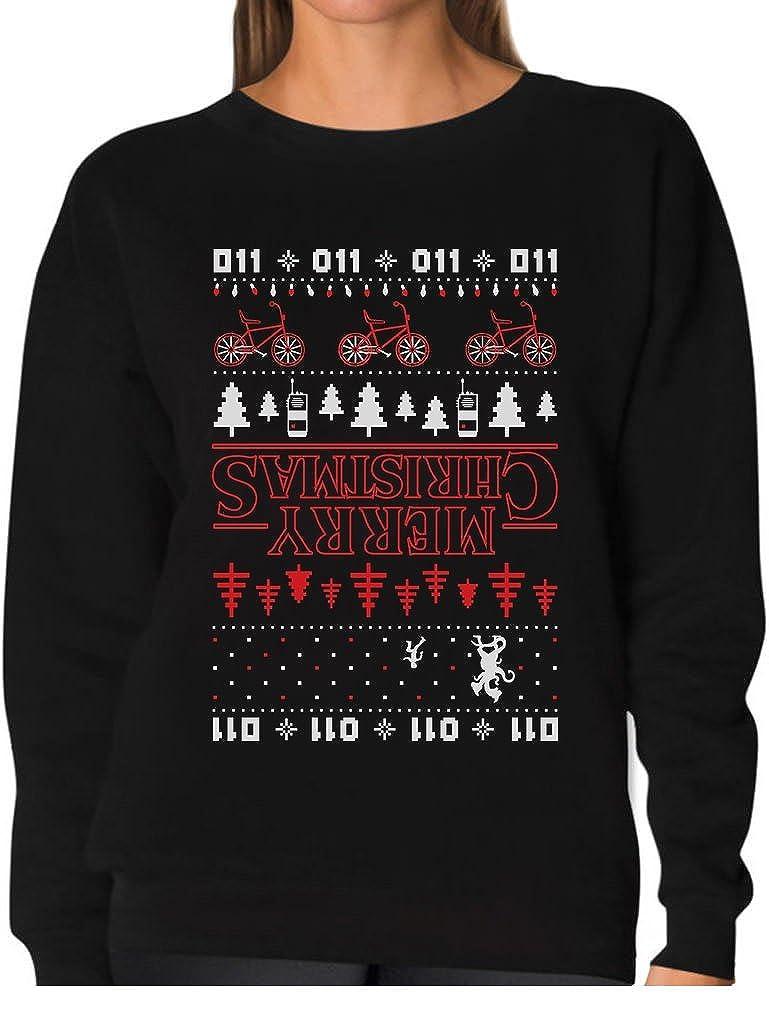 Tstars - Merry Christmas The Upside Down Ugly Christmas Women Sweatshirt GhPhrM3g8