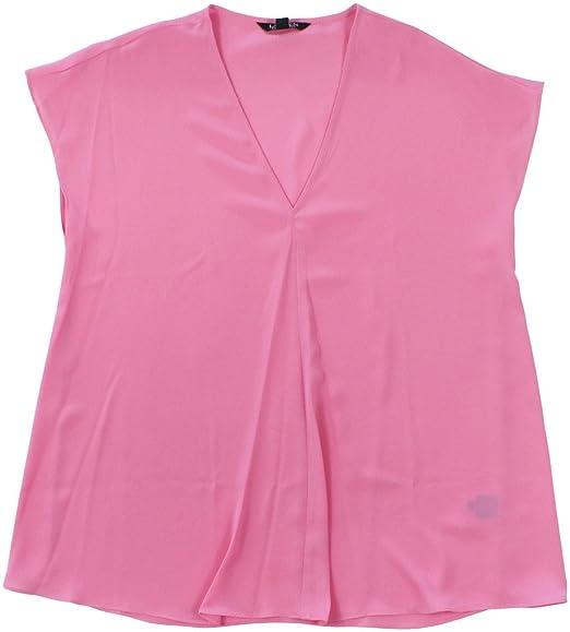 831ad556834108 Lauren Ralph Lauren Womens Andreya Chiffon Cap Sleeves Blouse Pink L   Amazon.co.uk  Clothing