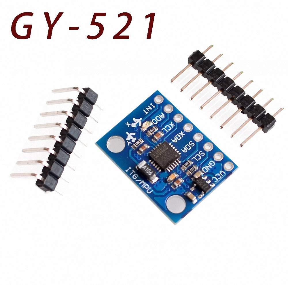 3 Axis Accelerometer Module 50pcs//lot GY-521 MPU-6050 MPU6050 Module 3 Axis Analog gyro sensors
