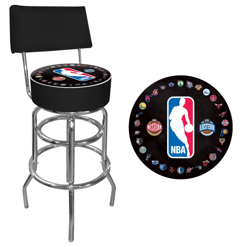 Trademark Gameroom NBA Padded Swivel Bar Stool with Back