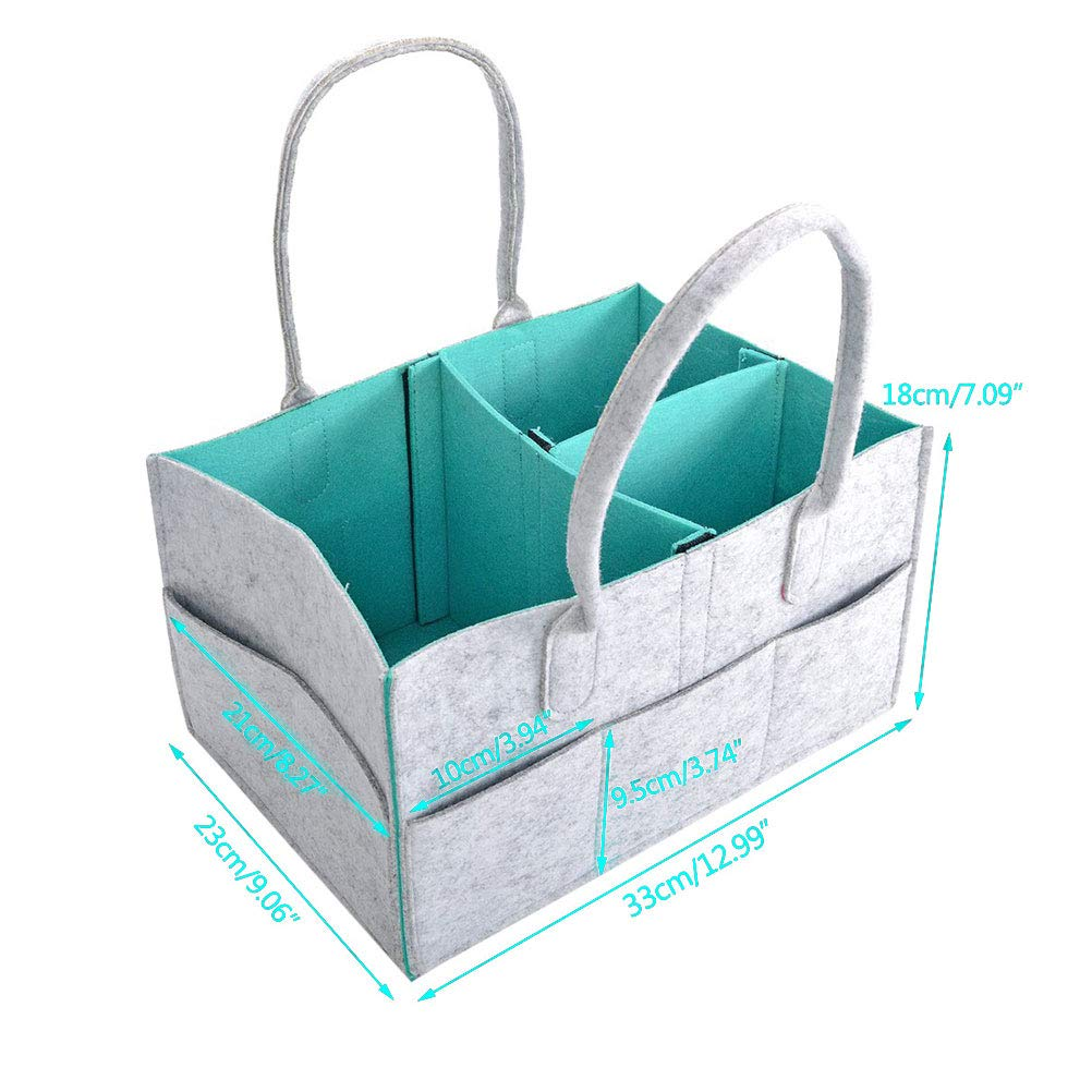 Hmxpls Baby Diaper Caddy Organizer with Changeable Compartments with Changeable Compartments Nursery Storage Bin for Diapers and Baby Wipes Large Capacity