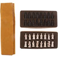 Baosity Juego de Ajedrez Chino Piezas + Estera, Chess Mat with Pieces