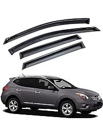 Atomsonic AMS1553 Black N/A Atomsonic Sun/Rain Guard Vent Shade Window Visors for 2008-2013 Nissan Rogue S/SL/SV Tape-On...