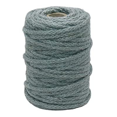 Vivifying 5mm Jute Rope, 98 Feet Natural Braided Jute Macrame Cord for Garden, Gifts, DIY Crafts (Gray): Office Products