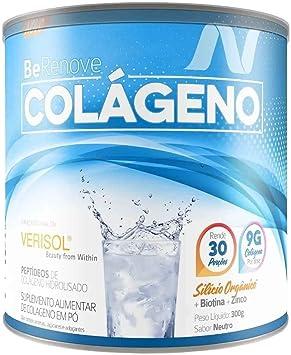Colágeno 9G BeRenove Verisol 300g Sabor Natural, Nutrends