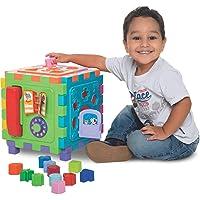 Brinquedo Educativo Cubo Didatico Grande 2 Em 1 Merco Toys Multicor