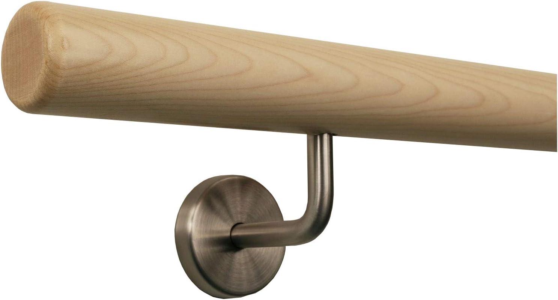 Ahorn Handlauf Treppen Gel/änder Handl/äufer 30-500 cm aus einem St/ück mit Halter St/ützen Tr/äger und bearbeiteten Enden