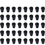 40 Pieces (Same Size) Very Small Solid Rubber Stoppers - Size #000-13mm (0.51in) x 8mm (0.31in) - 17mm (0.66in) Long…