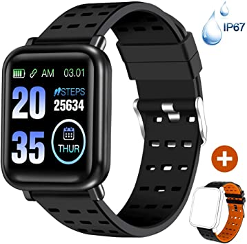 ANCwear Fitness Tracker Watch Activity Tracker with Heart Monitor and Blood Pressure, Waterproof Bluetooth Smart Watch with Sleep Monitor & SMS Call ...