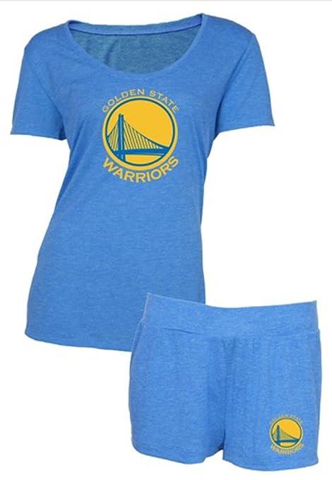 Concepts Sport Golden State Warriors NBA Women s Short Sleeve Shirt Top    Shorts Set (XL 787b117a8